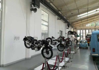 Podwieszenie motocykli w Muzeum
