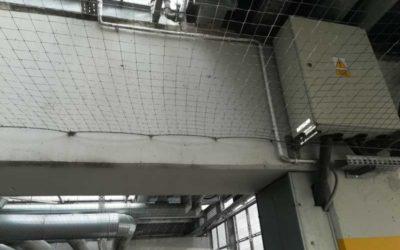 Instalacja siatek zabezpieczających przeciw ptactwu